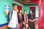 Kunzang and his family.